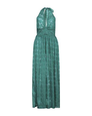 Nora Barth | Изумрудно-зеленый Длинное платье NORA BARTH атлас | Clouty