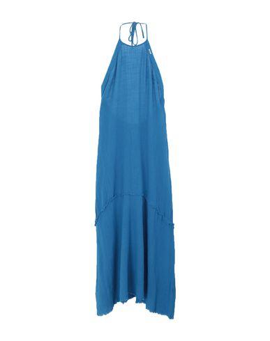 Met Jeans | Лазурный Лазурное длинное платье MET JEANS плотная ткань | Clouty