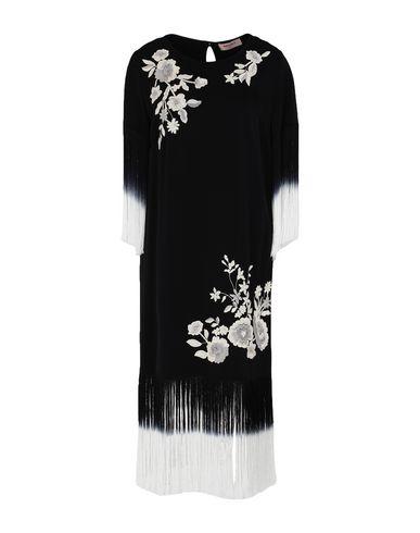 Twinset | Черный Черное короткое платье TWINSET атлас | Clouty