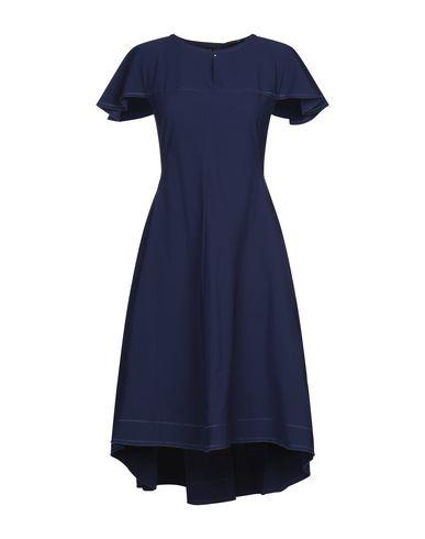 HIGH by CLAIRE CAMPBELL | Темно-синий Темно-синее платье длиной 3/4 HIGH by CLAIRE CAMPBELL плотная ткань | Clouty