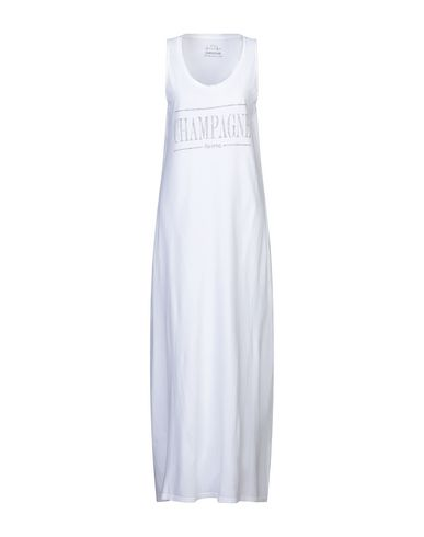 Empathie | Белый; Желтый Белое длинное платье EMPATHIE джерси | Clouty