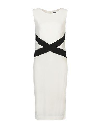 Clips | Белый Белое платье до колена CLIPS джерси | Clouty
