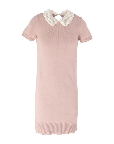 Sacai Luck | Розовый Розовое короткое платье SACAI LUCK вязаное изделие | Clouty