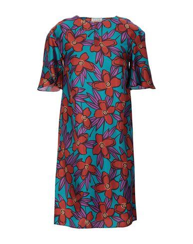 Siyu | Бирюзовый Бирюзовое короткое платье SIYU атлас | Clouty