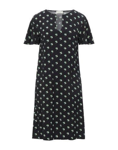 Siyu   Черный Черное короткое платье SIYU синтетическое джерси   Clouty