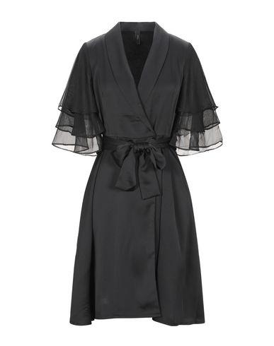 Y.A.S. | Черный Черное платье до колена Y.A.S. креп | Clouty