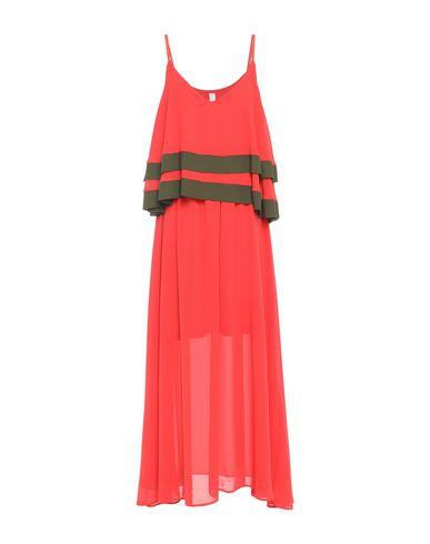 Empathie   Коралловый Коралловое длинное платье EMPATHIE креп   Clouty