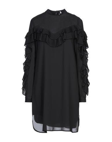 Silvian Heach | Черный Черное короткое платье SILVIAN HEACH креп | Clouty