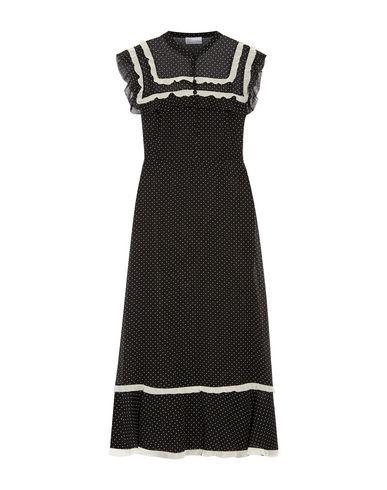 VALENTINO RED | Черный Черное платье до колена REDValentino креп | Clouty