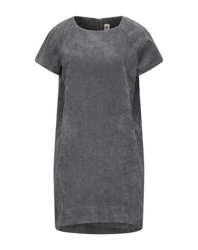 Empathie | Серый Серое короткое платье EMPATHIE бархат | Clouty