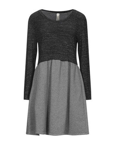 Empathie | Черный Черное короткое платье EMPATHIE флис | Clouty