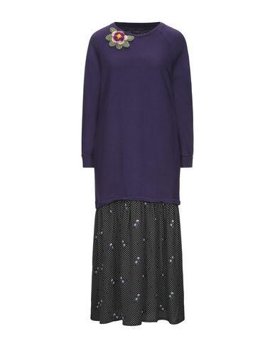 Empathie | Фиолетовый Фиолетовое платье до колена EMPATHIE плотная ткань | Clouty