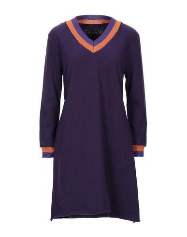 Empathie | Фиолетовый; Зеленый-милитари Фиолетовое короткое платье EMPATHIE флис | Clouty