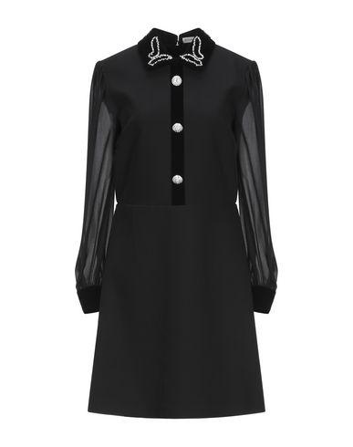 Silvian Heach | Черный Черное короткое платье SILVIAN HEACH бархат | Clouty