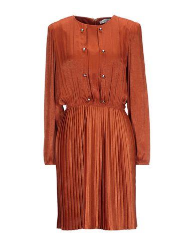 Silvian Heach | Коричневый Коричневое короткое платье SILVIAN HEACH атлас | Clouty