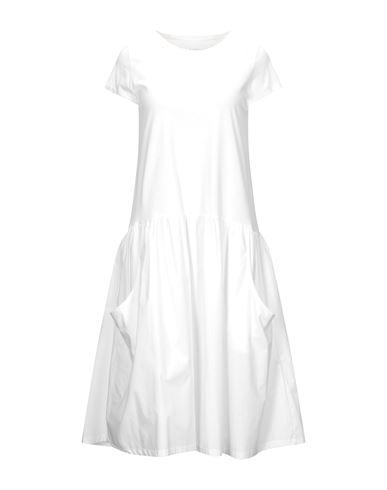 Empathie | Белый Белое платье до колена EMPATHIE плотная ткань | Clouty