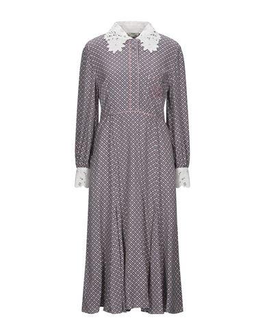 FENDI | Темно-синий Темно-синее платье длиной 3/4 FENDI кружево | Clouty