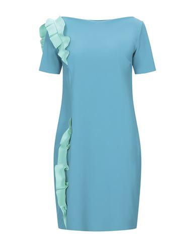 Chiara Boni La Petite Robe | Бирюзовый Бирюзовое короткое платье CHIARA BONI LA PETITE ROBE джерси | Clouty