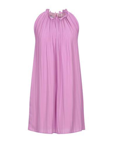Dondup | Розовато-лиловый Короткое платье DONDUP креп | Clouty