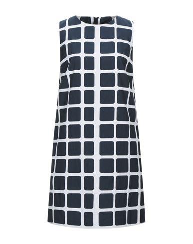 Paule Ka | Темно-синий Темно-синее короткое платье PAULE KA плотная ткань | Clouty
