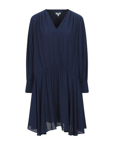 KENZO | Синий Синее короткое платье KENZO креп | Clouty