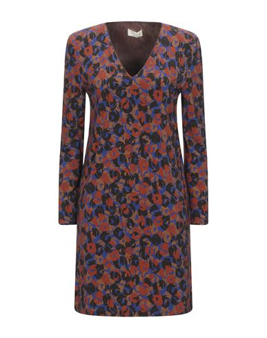 Siyu | Ржаво-коричневый Короткое платье SIYU джерси | Clouty