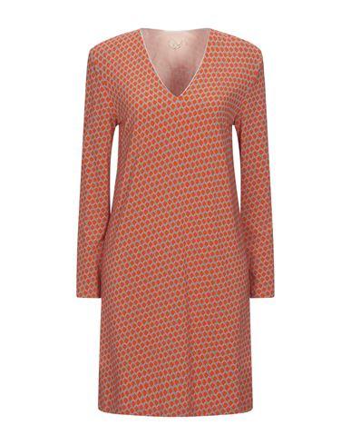 Siyu | Оранжевый Оранжевое короткое платье SIYU джерси | Clouty