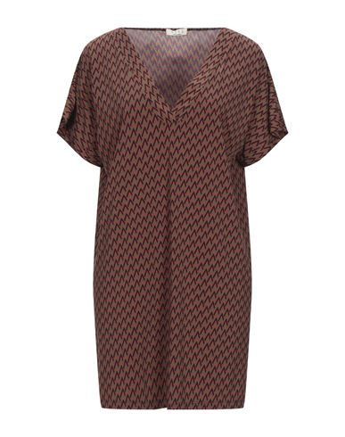 Siyu | Зеленый-милитари; Пурпурный Короткое платье SIYU джерси | Clouty