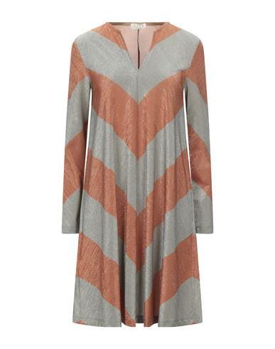 Siyu | Ржаво-коричневый; Хаки Короткое платье SIYU джерси | Clouty