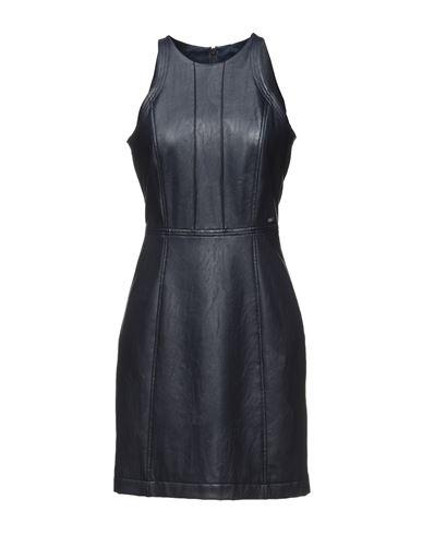 Armani Exchange | Темно-синий; Черный Темно-синее короткое платье ARMANI EXCHANGE искусственная кожа | Clouty
