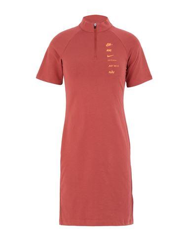 NIKE | Кирпично-красный Короткое платье NIKE джерси | Clouty