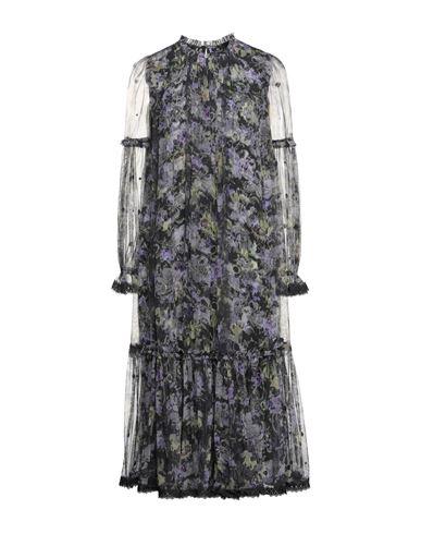 Needle & Thread | Темно-фиолетовый Темно-фиолетовое платье длиной 3/4 NEEDLE & THREAD тюль | Clouty