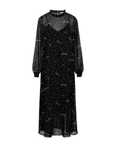 Only | Черный Черное платье длиной 3/4 ONLY шифон | Clouty