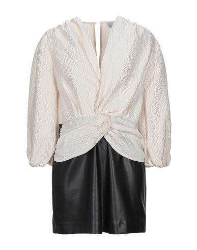 Weili Zheng | Слоновая кость Короткое платье WEILI ZHENG искусственная кожа | Clouty