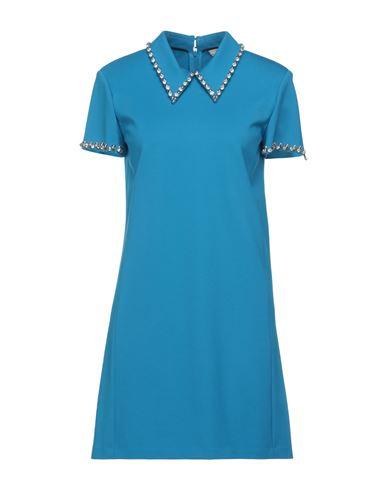 Dorothee Schumacher | Лазурный; Черный Лазурное короткое платье DOROTHEE SCHUMACHER джерси | Clouty