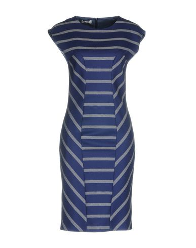 Moschino Cheap & Chic | Синий Синее платье до колена MOSCHINO CHEAP AND CHIC фланель | Clouty