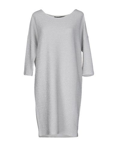 Silvian Heach | Светло-серый Светло-серое короткое платье SILVIAN HEACH вязаное изделие | Clouty
