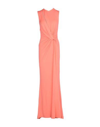 Elie Saab | Лососево-розовый Женское длинное платье ELIE SAAB креп | Clouty