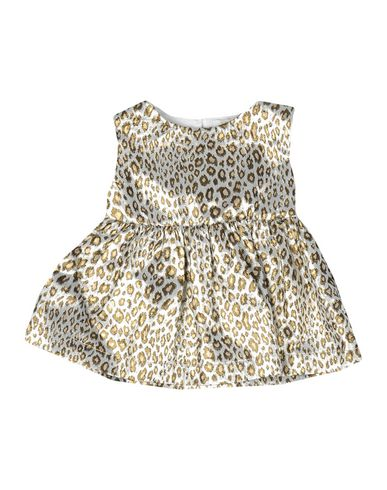 MICROBE by MISS GRANT | Светло-серый Детское светло-серое платье MICROBE by MISS GRANT жаккардовая ткань | Clouty