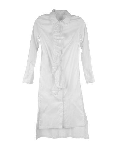 Pas Du Tout | Белый Женское белое платье до колена PAS DU TOUT поплин | Clouty