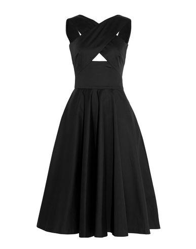 Tomas Maier | Черный Женское черное платье до колена TOMAS MAIER плотная ткань | Clouty