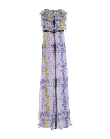 Giamba | Сиреневый Женское сиреневое длинное платье GIAMBA креп | Clouty