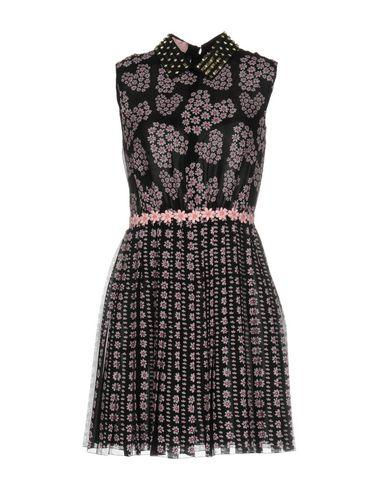 Giamba | Черный Черное короткое платье GIAMBA креп | Clouty