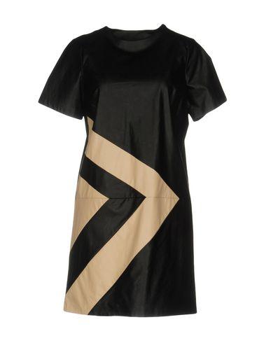 Silvian Heach | Черный Черное короткое платье SILVIAN HEACH искусственная кожа | Clouty