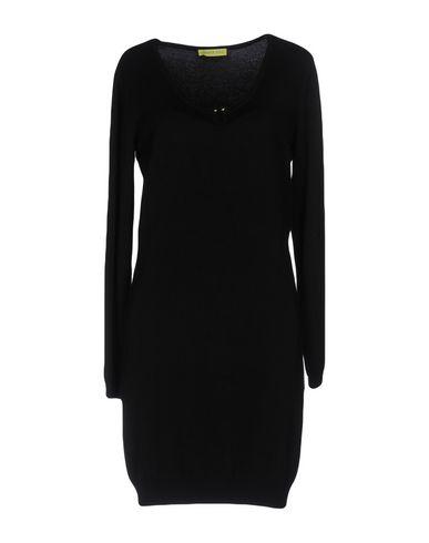 Versace Jeans | Черный Женское черное короткое платье VERSACE JEANS вязаное изделие | Clouty