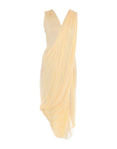 CELINE   Желтый Женское желтое платье до колена CELINE креп   Clouty