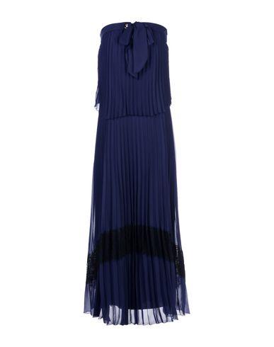 Atos Lombardini | Темно-синий Темно-синее платье длиной 3/4 ATOS LOMBARDINI креп | Clouty