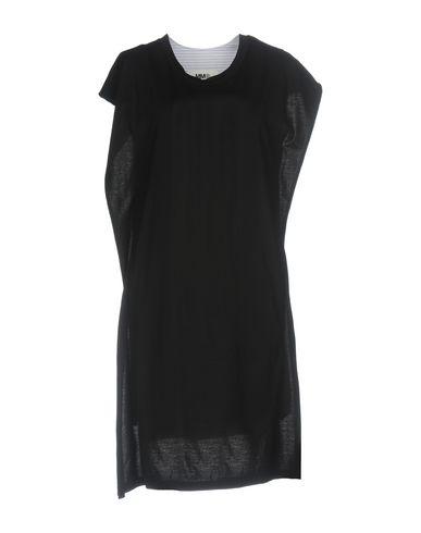 MM6 Maison Margiela | Черный; Серый Женское черное платье до колена MM6 MAISON MARGIELA плотная ткань | Clouty