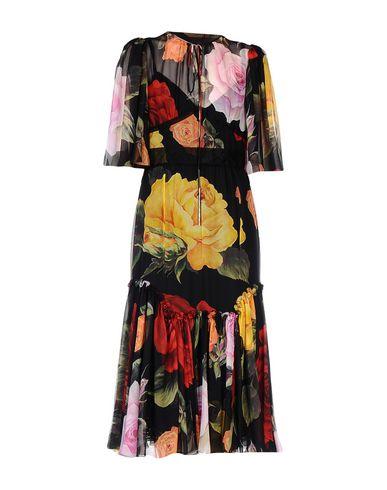 Dolce & Gabbana | Черный Черное длинное платье DOLCE & GABBANA муслин | Clouty