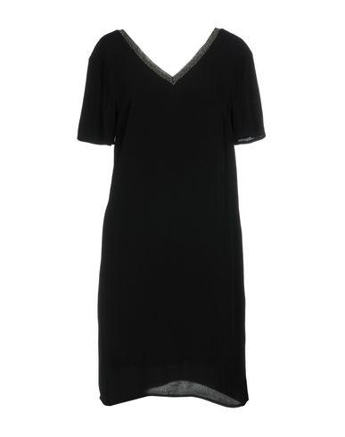 Silvian Heach | Черный; Бежевый Черное короткое платье SILVIAN HEACH креп | Clouty